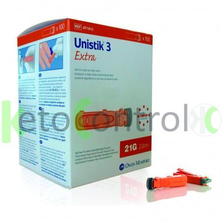 Unistik Safety Lancets 21g