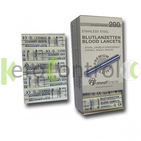 Pack de 200 Lancetas Acero...